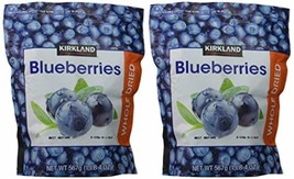 Kirkland Signature Whole Dried Blueberries: 2 Bags of 20 Oz (1 Bag is 1LB 4 OZ w - $66.38