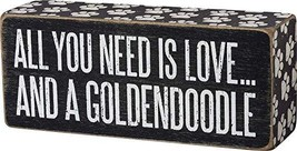 Primitives by Kathy 104073 Box Sign - Goldendoodle, 6x2.5 inches, Black, White - $12.45