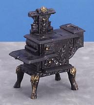 Dollhouse Miniatures -  Black Wood Stove T5931 New - $16.99