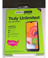 Simple Mobile Samsung Galaxy A01 4G LTE 16 GB PP  ** BRAND NEW IN SEALED... - $59.99