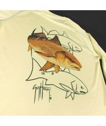 Guy Harvey Bluewater Double Dry Redfish Seatrout Yellow Performance Shir... - $34.99