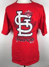 "Red "" National League Champions "" Men's Cotton T shirt Size XL NLCS Base... - $8.99"