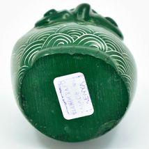Vaneal Group Hand Carved Kisii Soapstone Green Owl Figurine Handmade in Kenya image 5