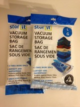 Stor-It Vacuum Storage Bag (1) Large 17.5 X 27.5 Airtight Waterproof New... - £8.97 GBP