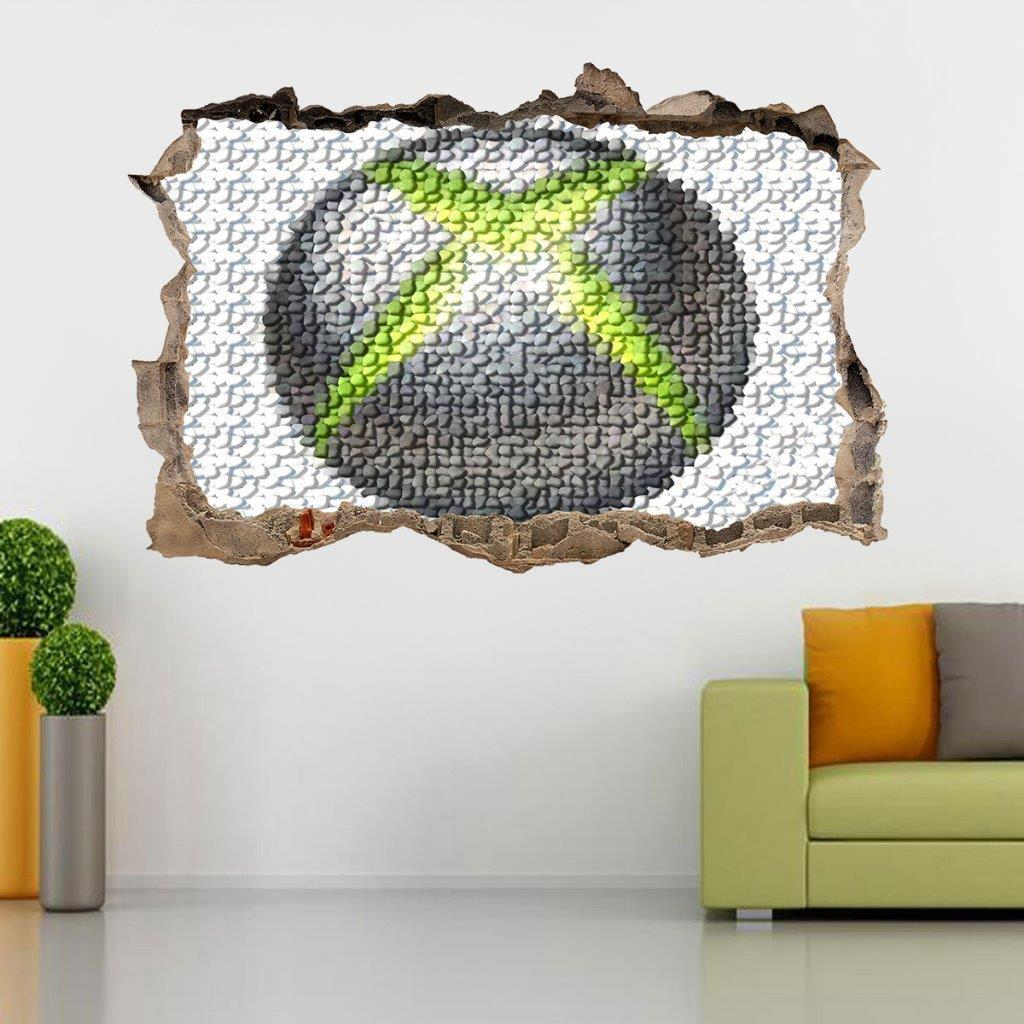 XBOX Logo Smashed Wall Decal Graphic Sticker Home Decor Art Mural 360 One J114 for sale  USA