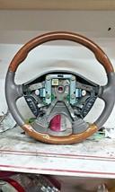 2000-03 Jaguar S-TYPE Steering Wheel Oem Wood GRAIN/LEATHER MINK/Gray - $123.75