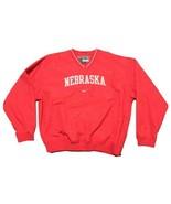Nike Nebraska Cornhuskers Pullover Windbreaker Jacket Men's Large Red - $29.70