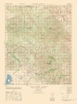Topo Map - Warner Springs Sheet - US Army 1942 - 23.00 x 30.93 - $36.58+
