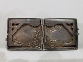 Antique Fraternal Elks BPOE Sterling Silver Card Case / Enameled Plague -1900's image 7
