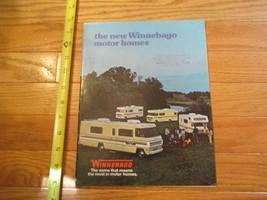 Winnebago Motorhome 1975 motor home camping RV Vintage Dealer sales broc... - $14.99