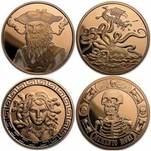1 oz .999 Pure Copper BU Round/Challenge Coin - 7 Designs - $5.95