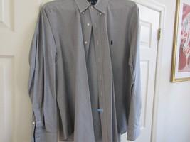 Ralph Lauren , Classic Fit ,17/ X-Large  , Men's Long Sleeve Shirt ,100% Cotton - $29.65