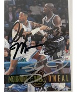 Alonzo Mourning & Shaquille O'Neal Signed Autographed Skybox Basketball ... - $99.99