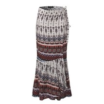 Women Boho Floral Front Wrap Party Clubwear Long Skirt Maxi Dress - $29.58
