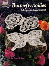 5 Royal Pineapple Lacewing Dewdrop Butterfly Thread Crochet Doily Patterns - $18.99