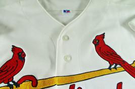 MARK MCGWIRE / AUTOGRAPHED CARDINALS WHITE RUSSELL MLB BASEBALL JERSEY / JSA LOA image 5