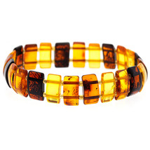 Womens Mens Natural Multicolored Amber Adjustable Bracelet 13mm 7 1/2 in... - $39.00