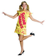 "NEW Women's Candy Costume ""Sugar Babies"" Baby Sexy Food Dress One Size F... - £16.13 GBP"