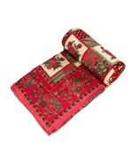 Home Furnishing Bedding Quilt Bedspread Pink Mughal rose Single Razai - $34.00