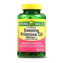 Spring Valley Women's Health Evening Primrose Oil Softgels, 1000mg, 75 C... - $13.85