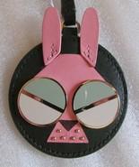 Kate Spade New York Keyring Fob Leather Spademals Rabbit Deep Evergreen - $47.52