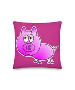 Piglet Pink Pig Hand Drawn Pillow Cushion Premium Pillow Best Cushion An... - $32.00+