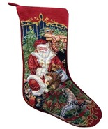 Sferra Needlepoint Christmas Stocking REINDEER NEW WITH TAG (s) - $94.04