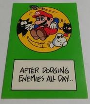 "Vintage Super Mario Brothers Greeting Card Nintendo 1989 ""Dodging Enemies"" - $9.99"