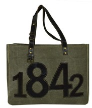 Indian HANDMADE Women Canvas Grey Patchwork Shoulder Bag Ladies Hobo Tote - $39.15
