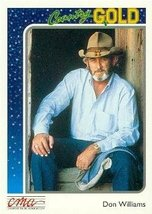 Don Williams trading card (Country Music) 1992 Sterling Country Gold #74 - $4.00