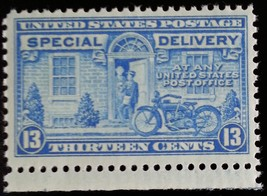 1944 13c Motorcycle, Special Delivery, Blue Scott E17 Mint F/VF NH - $1.78