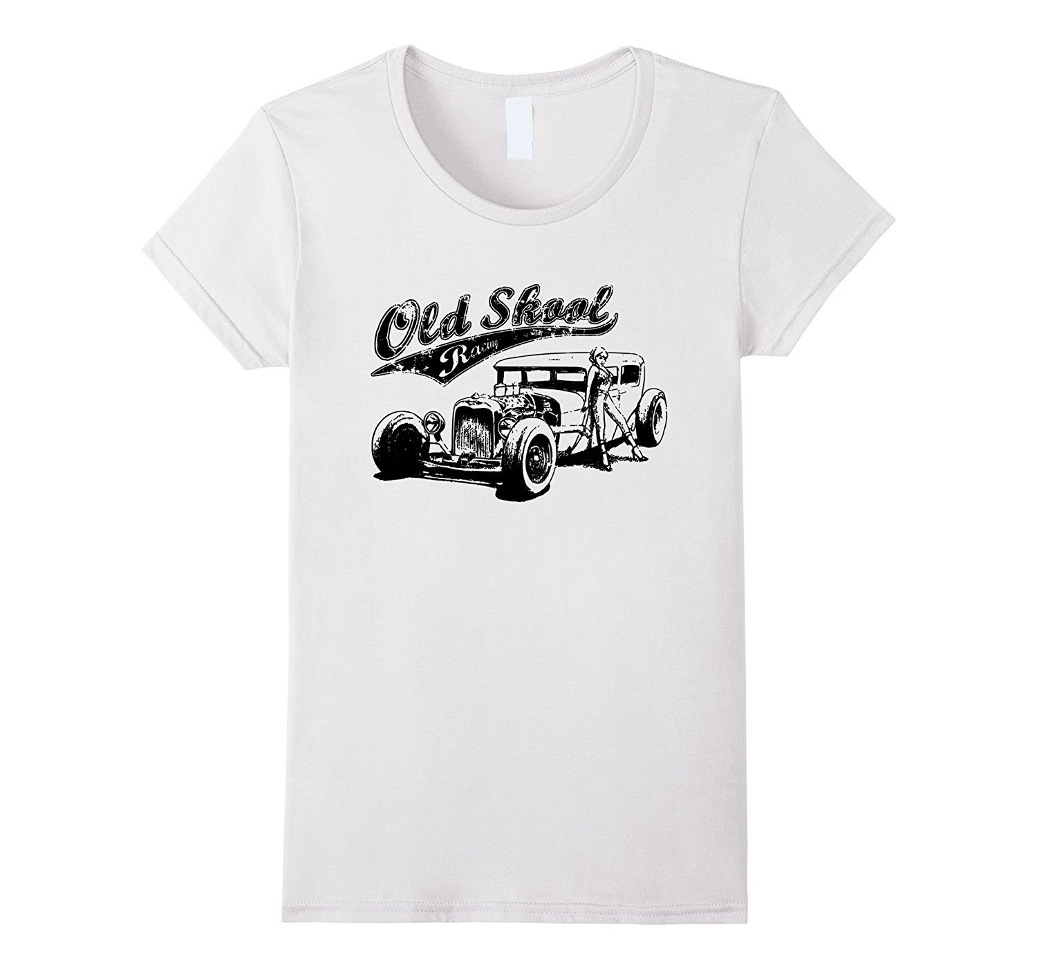 New shirts old school auto racing hot rod car gear for Old school basketball t shirts