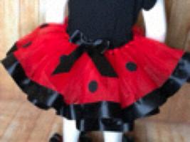 Ladybug Tutu, Ladybug Ribbon Tutu - $40.00+