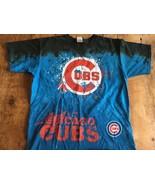 Chicago Cubs  Major League Baseball Tie Dye T Shirt L Liquid Blue - $17.09