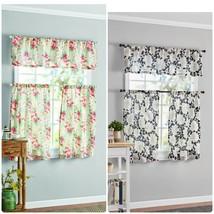 Mainstays Floral 3 Piece Window Curtain Set - $19.99