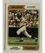 Topps 1974 San Diego Padres Glenn Beckert 2nd Base #241 Baseball Card Ve... - $4.99