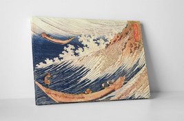 Japanese Art Katsushika Hokusai Wild Sea at Choshi Gallery Wrapped Canva... - $39.55+