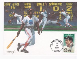 LOU GEHRIG #2417 MAXI CARD COOPERSTOWN, NY JUNE 10, 1989 FW - $3.58