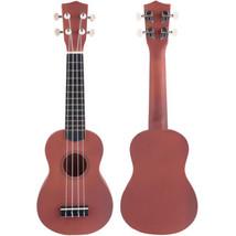"""21"""" 12 Frets Instrument Wood Acoustic Soprano Ukulele Uke Sapele Hawaiia... - $27.98"""