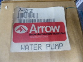 Chrysler Water Pump Remanufactured By Arrow P/N 7-6258, MD021490 image 2