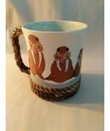 Original Hand Painted Walrus Coffee Mug Vashon Washington - $12.86