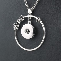 bohemian choker necklace long 18mm snap button necklaces & pendants fash... - $5.86