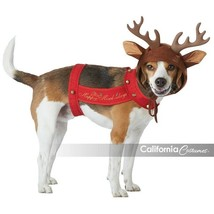 California Costumes Reindeer Pet Animal Dog Christmas Xmas Costume PET20155 - £12.81 GBP