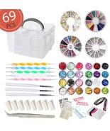 Aifaifa 69PCS DIY Nail Art Tools Decoration Manicure Kit, Glitter Nail Nail - $54.21