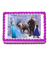 Frozen edible party cake topper decoration frosting sheet - $7.80