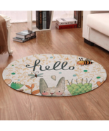 Super Printed Round Carpet Classic Rugs Oriental Art Floral Rug DIY for Spring - $18.80 - $70.28