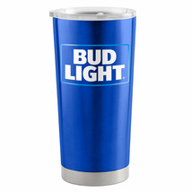 Bud Light 20 Oz Metal Tumbler Cup Blue - $31.98