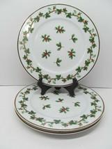 "Waverly Holiday Bouquet 8 1/4"" Salad Plate Set Of 3 Plates EUC - $28.42"