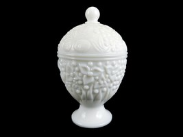 Avon Milk Glass Covered Candy Dish #5, Egg Shaped On Pedestal Base, Vint... - $19.55