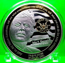 JFK - HEAD OF STATE COMMEMORATIVE COIN PROOF - $89.96
